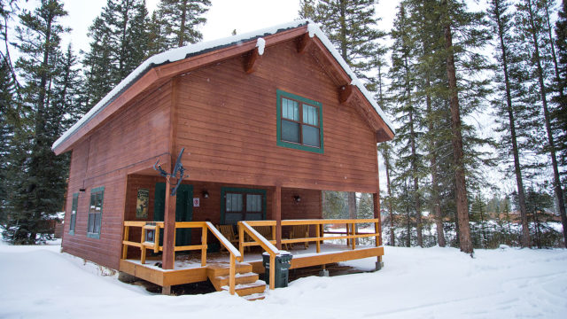 "The Silver Willows ""Sarva"" Cabin is open year-round!"