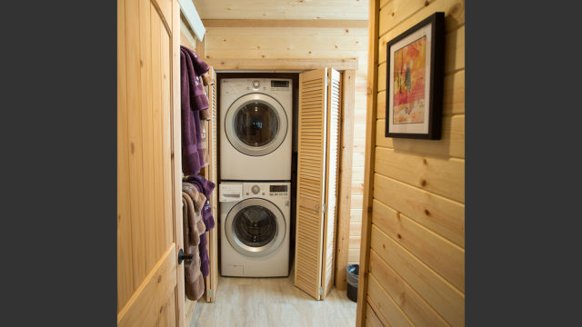 The bathroom contains a full washer and dryer that you are welcome to use.