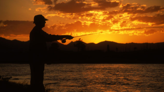 Fly fishing is a popular guest activity. You can fish right on the property!